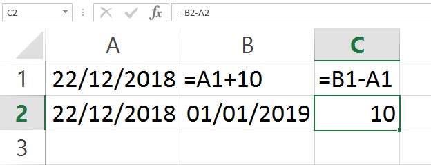 Operazioni tra date Excel