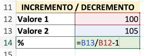 Formula per ottenere una variazione percentuale (1)