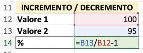 Formula per ottenere una variazione percentuale (2)