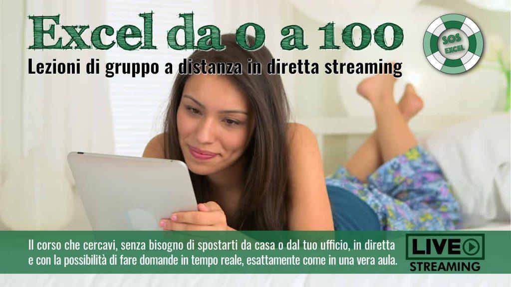 Corso di Excel Intermedio online in diretta streaming