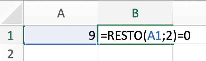 Operazione logica con la funzione RESTO