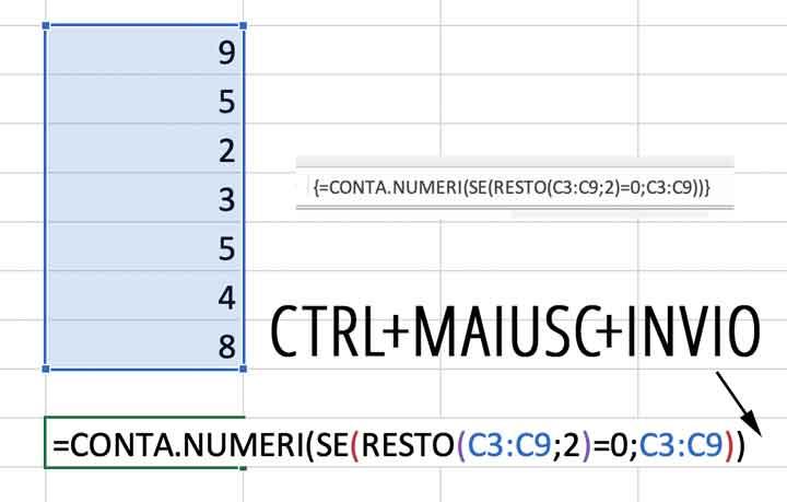 Conteggio in matrice di numeri pari e dispari
