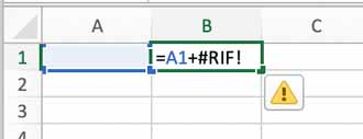 Errori di Excel - #RIF!