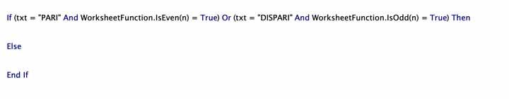 Controllo logico VBA con più condizioni in And / Or