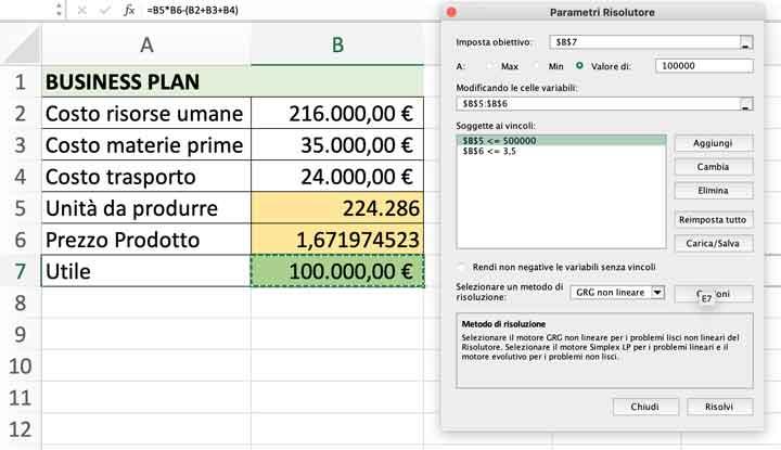 Come utilizzare il Risolutore Excel